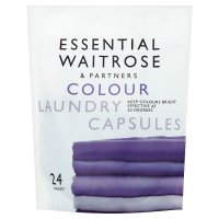 essential Waitrose colourcare laundry liquid sachets 24w