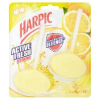 Harpic 2 citrus & hygienic cageless toilet blocks