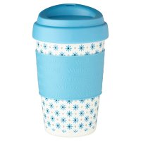 Waitrose Blue Floral Scatter Coffee Cup