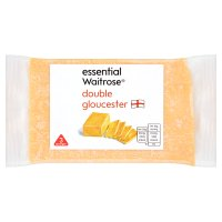 essential Waitrose medium Double Gloucester cheese, strength 3