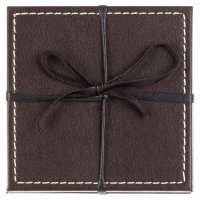 Waitrose reversible leather coasters, set of 4