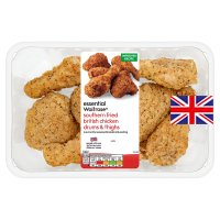 essential Waitrose British southern fried chicken drums & thighs