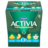 Activia fat free yellow fruit yogurt variety pack