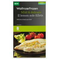 Waitrose Frozen 2 lemon sole fillets