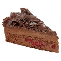 Dark chocolate & raspberry torte
