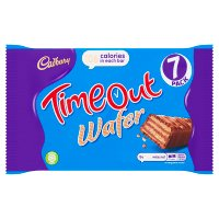 Cadbury Time Out wafer chocolate bar 7 pack