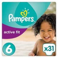 Pampers active fit extra large 6s