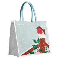 Waitrose Winter Juco Reusable Large Bag