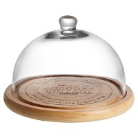 Waitrose Dining Oak & Glass Cheese Dome