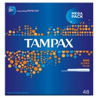 Tampax Super Plus Applicator Tampon Single 48PK