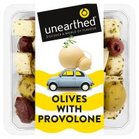 Unearthed olives with provolone and Italian herbs