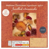 Waitrose Christmas signature spice Jewelled cheesecake