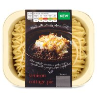 menu from Waitrose venison cottage pie