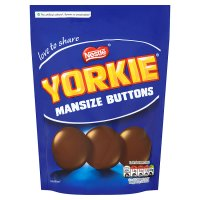 Yorkie Man Size Buttons sharing bag