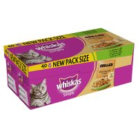 Whiskas simply grilled mixed selection in jelly