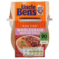 Uncle Ben's Rice Time Mexican chilli rice & sauce pot