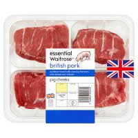 essential Waitrose British Outdoor Bred pork pig cheeks