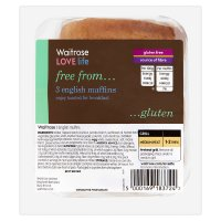 Waitrose LOVE life gluten free English muffins