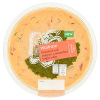 Waitrose World Deli Roasted Red Pepper, Cucumber Yogurt Dip