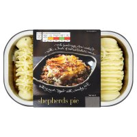 menu from Waitrose shepherds pie