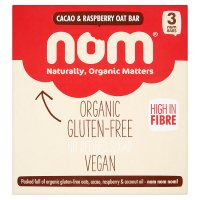 Nom Cacao & Raspberry Oat Bars