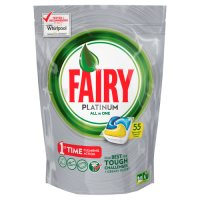 Fairy Platinum All In One Lemon Dishwasher Tablets 55 pack