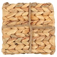Waitrose water hyacinth coasters, pack of 4