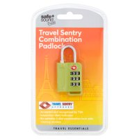 Safe + Sound travel padlock