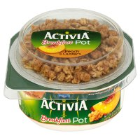 Activia breakfast pot peach yogurt