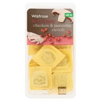 Waitrose chicken & pancetta fresh pasta ravioli
