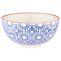 Waitrose SB Oriental Bowl Med Star Blue