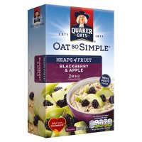Quaker Oats So Simple Heaps of Fruit blackberry & apple porridge cereal sachets