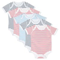 Waitrose stripes baby bodysuits 5 pack