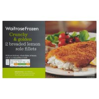 Waitrose Frozen 2 breaded lemon sole fillets