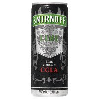Smirnoff Lime Vodka & Cola