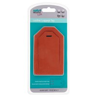 Safe + Sound leather luggage tag