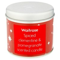 Waitrose Tin Candle Spiced Clementine