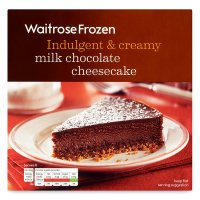 Waitrose Frozen milk chocolate cheesecake