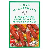 Linda McCartney Vegetarian Chorizo & Pepper Sausages