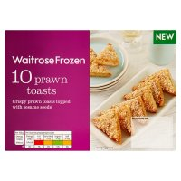 Waitrose Frozen 10 Prawn Toasts