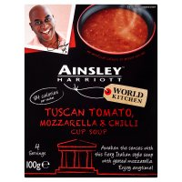 Ainsley Harriott tomato, mozzarella & chilli cup soup, 4 servings