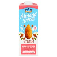 Blue Diamond longlife unsweetened almond breeze drink