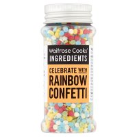Waitrose Cooks' Homebaking fruity flavoured confetti
