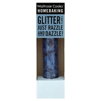 Waitrose Cooks' Homebaking blue glitter flakes