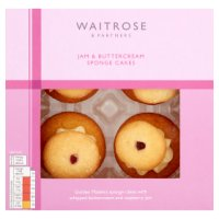 Waitrose 4 Jam & Buttercream Sponge Tops