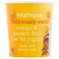 Waitrose deliciously exotic mango & passionfruit low fat yogurt