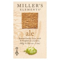 Miller's Ale beer crackers for cheese