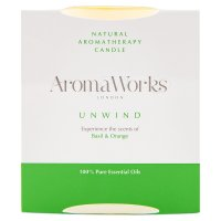 AromaWorks candle basil & orange