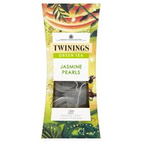 Twinings jasmine pearls green tea - whole leaf silky pyramids 15 tea bags