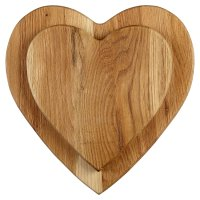 Waitrose wooden heart boards, set of 2